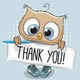 Cute Cartoon Owl Boy Royalty Free Stock Photography