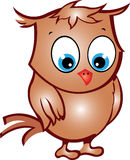 Cute Cartoon Owl Stock Image