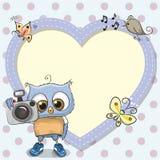 Cute cartoon Owl with a camera