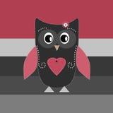 Cute cartoon owl design for greeting card Stock Image