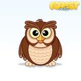 Cute Cartoon Owl. Funny Vector Animal Stock Photos