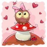 Cute Cartoon Owl Stock Image