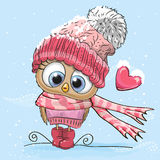 Cute Cartoon Owl Royalty Free Stock Photography