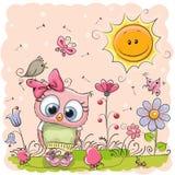 Cute Cartoon Owl Royalty Free Stock Photo