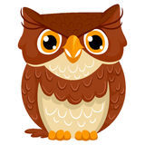 Cute Cartoon Owl Royalty Free Stock Images