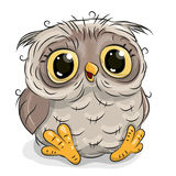 Cute cartoon owl Stock Photos