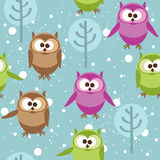 Cute cartoon owls, vector  Royalty Free Stock Images