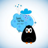 Cute cartoon owls  set for baby showers, birthdays and invitation designs Royalty Free Stock Photos