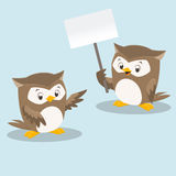 Cute Cartoon Owls. Vector illustration of cute owls for design element Royalty Free Stock Images
