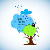 Cute cartoon owls vector set for baby showers, birthdays and invitation. Designs Stock Photography