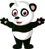 Cute cartoon panda posing Stock Photo