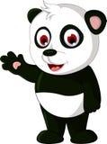 Cute cartoon panda posing Royalty Free Stock Images