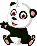 Cute cartoon panda posing Stock Photography