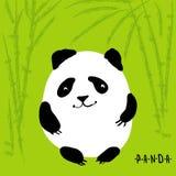 Cute cartoon panda, vector character Stock Photography