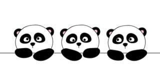 Cute cartoon pandas Stock Images