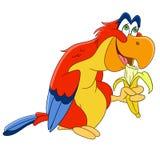 Cute cartoon parrot Stock Photos