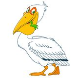 Cute cartoon pelican Royalty Free Stock Photography