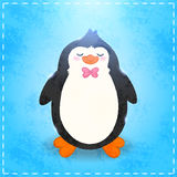 Cute cartoon penguin card Royalty Free Stock Photography