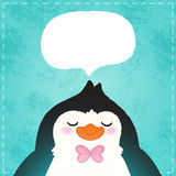 Cute cartoon penguin card Stock Photos
