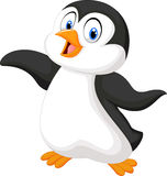 Cute cartoon penguin Stock Images