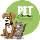 Cute cartoon pet ad background Royalty Free Stock Photo