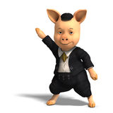 Cute cartoon pig with clothes Stock Image