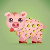 Cute Cartoon Pig Royalty Free Stock Images