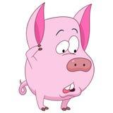 Cute cartoon pig Stock Photos