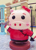 Cute cartoon pig statue, lovely cartoon pig model Stock Images