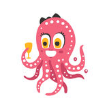 cute pink octopus cartoon - photo #27