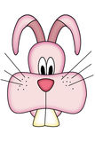 Cute cartoon pink rabbit head Royalty Free Stock Photo