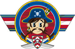 Cute Cartoon Pirate Captain Stock Photo