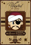 Cute Cartoon Pirate Poster Stock Images