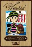 Cute Cartoon Pirate Poster Royalty Free Stock Photos