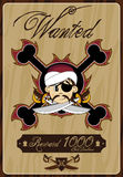 Cute Cartoon Pirate Poster Royalty Free Stock Photography