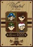 Cute Cartoon Pirate Poster Stock Photos