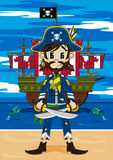 Cute Cartoon Pirate Royalty Free Stock Photography