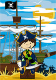 Cute Cartoon Pirate Stock Images