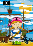 Cute Cartoon Pirate Royalty Free Stock Photo