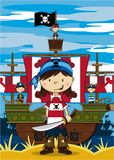 Cute Cartoon Pirate Royalty Free Stock Images