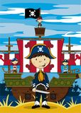 Cute Cartoon Pirate Stock Photos