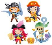 Cute Cartoon Pirates Set 2 Royalty Free Stock Photos