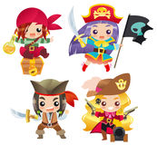 Cute cartoon pirates Set 1 Royalty Free Stock Photo
