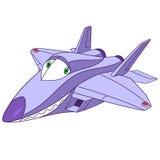 Cute cartoon plane f-22 raptor Stock Images