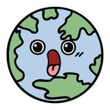 Cute cartoon planet earth. A creative illustrated cute cartoon planet earth stock illustration