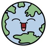 Cute cartoon planet earth. A creative illustrated cute cartoon planet earth vector illustration