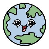 Cute cartoon planet earth. A creative illustrated cute cartoon planet earth royalty free illustration