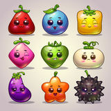 Cute cartoon plant characters Stock Photo