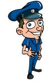 Cute Cartoon policeman Royalty Free Stock Photos