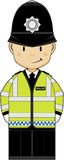 Cute Cartoon Policeman Stock Image
